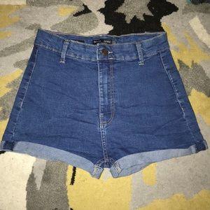 Bershka high waist jean shorts!